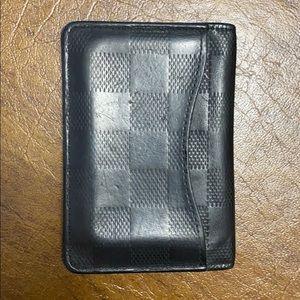 Louis Vuitton Bags - Louis Vuitton Mens Black Leather Wallet